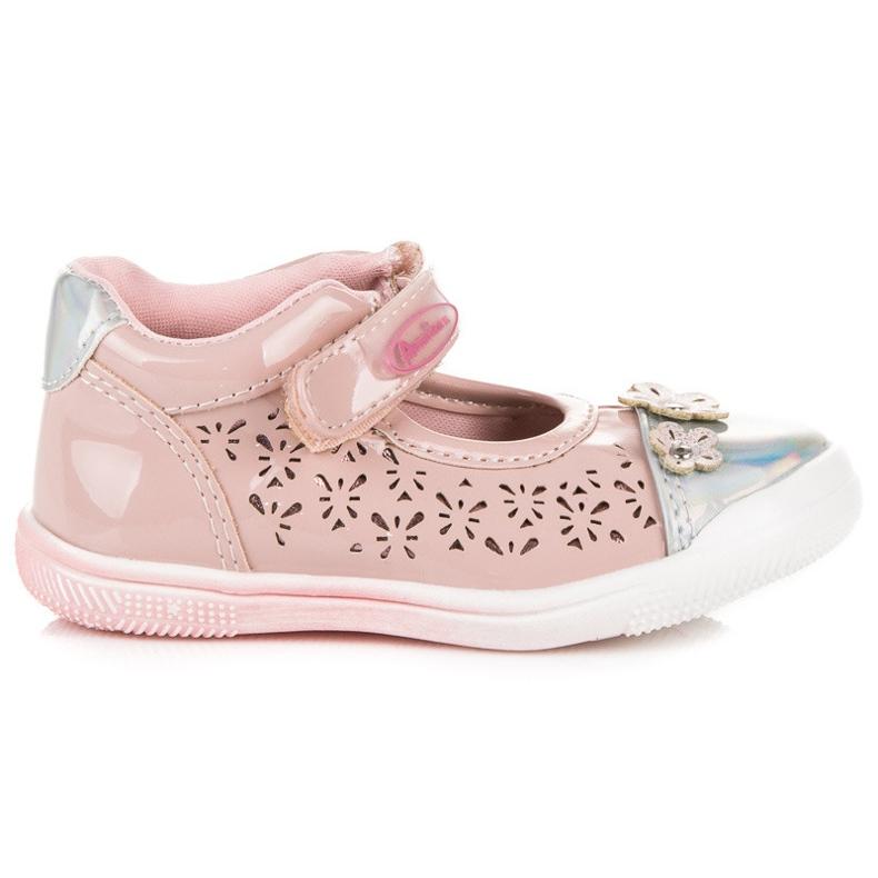 American Club Prolamované americké boty růžový