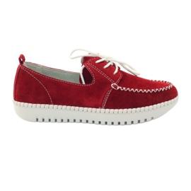 Červená Creepersy kožené boty Filippo 020