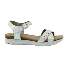 Sandály Inblu 038 stříbrné šedá