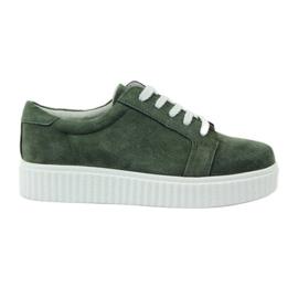 Zelená Creepersy kožené boty Filippo 036