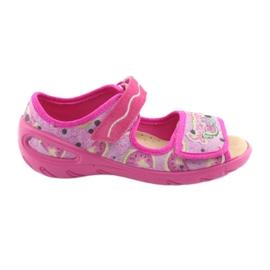 Růžový Befado dětské boty pu 433X030