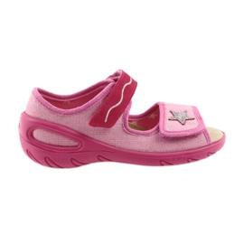 Růžový Befado dětské boty pu 433X032