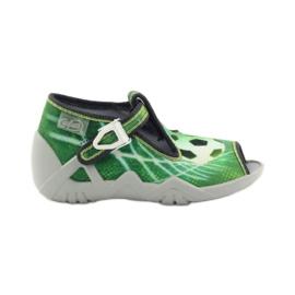 Zelená Befado dětské boty 217P093