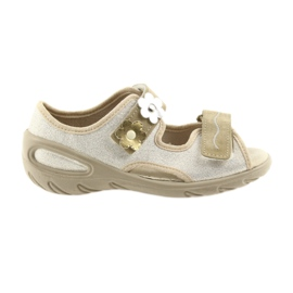 Žlutý Befado dětské boty pu 065X121