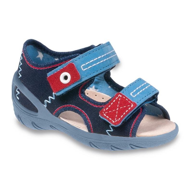 Befado dětské boty pu 065P112 válečné loďstvo