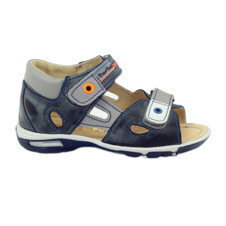 Velcro sandály Bartuś 119 tmavě šedá