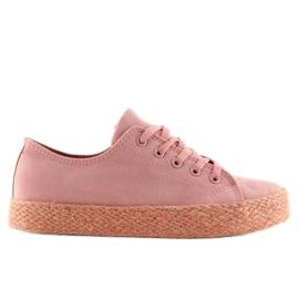 Espadrilky plné barvy růžové K1830201 Rosa růžový