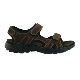 American Club hnědý Americké kožené pánské sandály