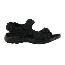 American Club černá Americké kožené pánské sandály