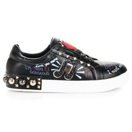 Seastar Černé módní tenisky černá