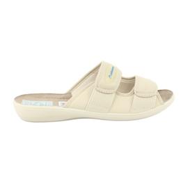Elastické pantofle Adanex 17660 béžový