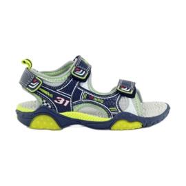 American Club Dětské boty sandály American 1702 tmavě modré