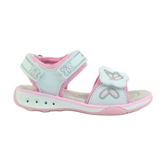 American Club Dětské boty sandály insole kožené září americké