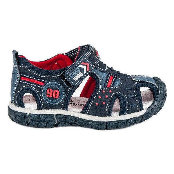 American Club Vestavěný sandály americký chlapec modrý