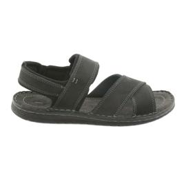 Černá Riko pánské sandály 852 sportovní obuv