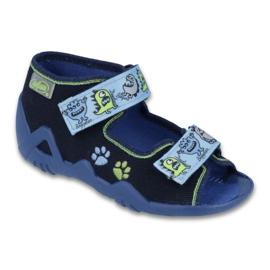 Befado zelená dětská obuv 250P076