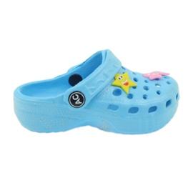American Club Crocsy žabky modré americké modrý