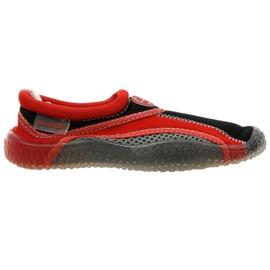 Aqua-Speed Jr. neoprenové plážové boty červeno-šedé