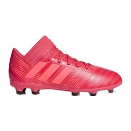 Kopačky adidas Nemeziz 17,3 Fg Jr CP9166 červená červená
