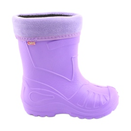 Nachový Befado dětská obuv kalosz-fiolet 162X102