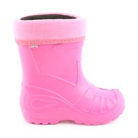Růžový Befado dětské boty kalosz-róż 162Y101