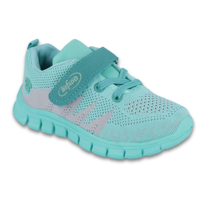 Zelená Befado dětské boty do 23 cm 516X026