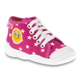 Befado barevné dětské boty 218P055 růžový