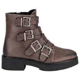 Corina hnědý Hnědé pracovní boty