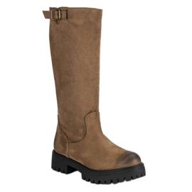 Corina hnědý Suede Boots