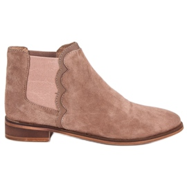 Kožené boty Jodhpur hnědý