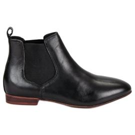 Dámské kožené boty Jodhpur černá