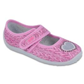 Růžový Befado dětská obuv 945X325