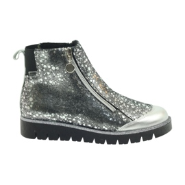 Boty boty izolované Bartek černá-stříbrná