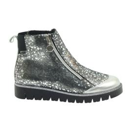 Boty boty izolované Bartek černá-stříbrná šedá