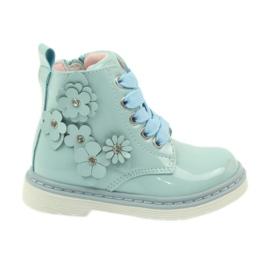 American Club Americké kotníkové boty boty dětské boty 1424 modrý