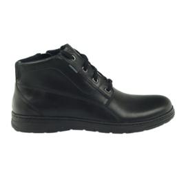 Černá Boty zimní boty Badura 4655 černé