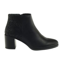 Černá Černé boty s vysokými podpatky Sergio Leone 542
