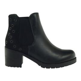 Černá Zimní boty černé Sergio Leone 527