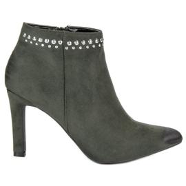 Suede Boots On VINCEZA zelená