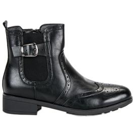 Filippo Černé boty Jodhpur černá