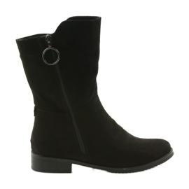 Daszyński černá SA130 semiš černé boty