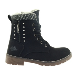 DK černá Dřevěné boty Voskované na černé
