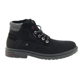 American Club černá Trampové americké zimní trekingové boty