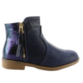 Kozačky boty K1647301 Marino válečné loďstvo