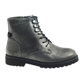 Šedá Starožitné stříbrné boty Sergio Leone 723