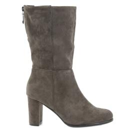 Hnědý Boots tmavé boty Coffe Sergio leone