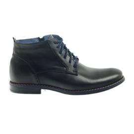 Černá Zimní boty na zipu černé Nikopol 677