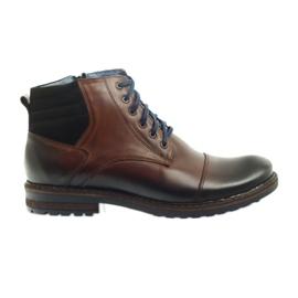 Hnědý Hnědé pánské boty Nikopol 683