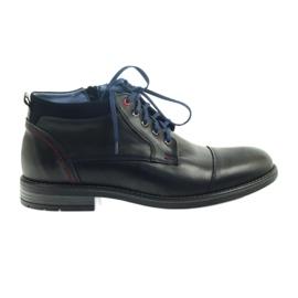 Černá Kožené kotníkové boty Nikopol 689