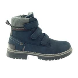American Club Boty boty velcro 708121 šedá válečné loďstvo